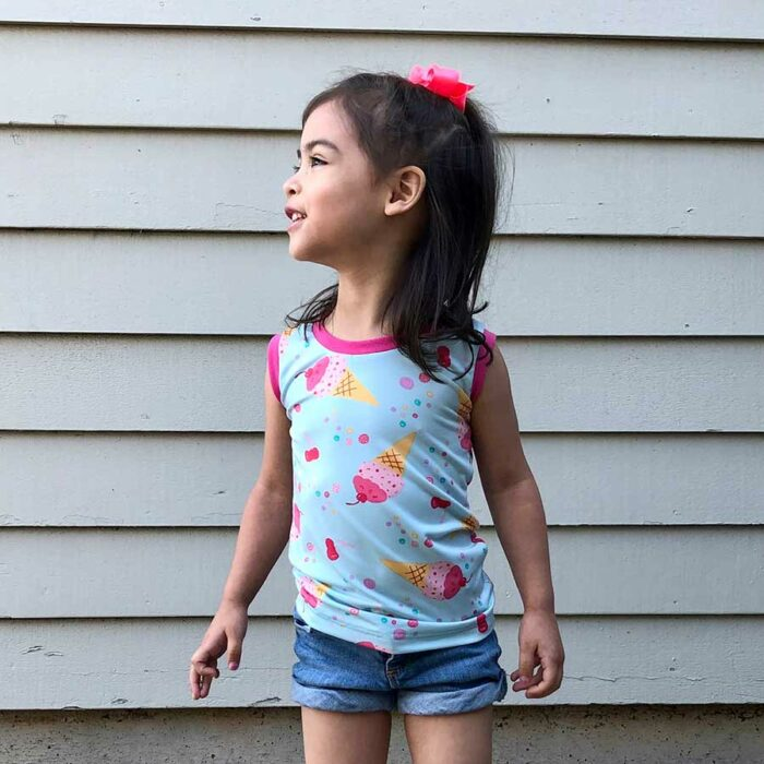 CATCHaCRAB TANK and Racerback sewing pattern for Kids Puperita